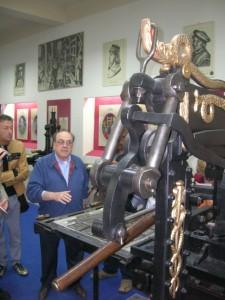 Andrea Schiavi con il 'suo' Columbian