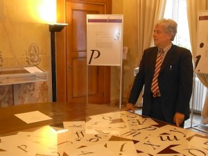 Enrico Tallone con i 'suoi' caratteri
