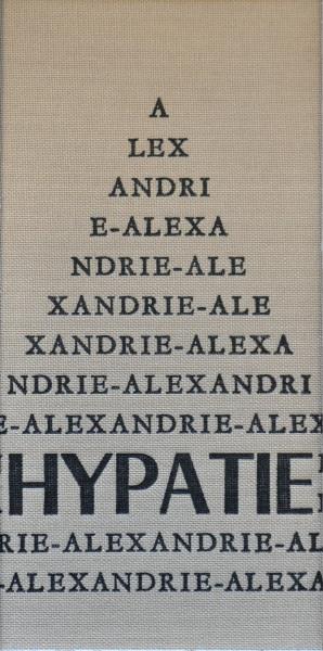 La copertina del libro su Ipazia d'Alessandria