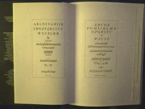 Gli inserti di Enrico Tallone con i caratteri disegnati dal Bertieri