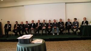 Le aziende sponsor del convegno intervengono al dibattito al termine dele relazioni