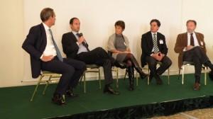 I giovani imprenditori illustrano le loro soluzioni alla crescita al convegno dell'Unione Industriali Grafici di Milano