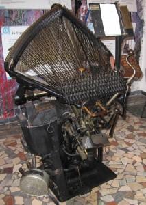 Compositrice a caldo Typograph al Museo della Stampa di Mondovì