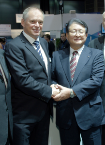 Bernhard Schreier con Shiro Kondo