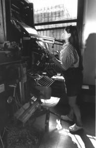 Elena Moro alla tastiera