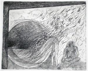 Vortice acquaforte e acquatinta di Carlo Iacomucci