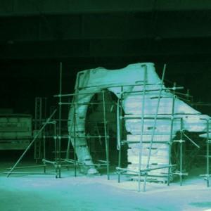 Una costruzione in fase di realizzazione con D-Shape