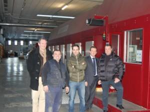 Lo staff di Ghelfi, Bobst e Simec al termine del upgradfing della macchina