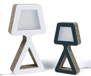 Lampade da tavolo Biancaneve realizzate da kubedesign