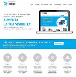 Una pagine del sito e-commerce