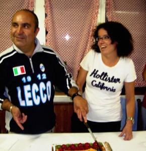 Goliardo Butti e Patrizia Borgonovo all'inugurazione della BeeGraphic