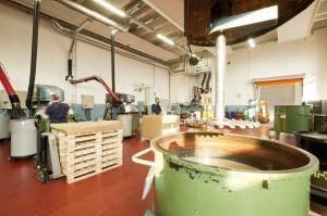 Uno scorcio di un reparto di produzione inchiostri