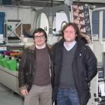 Da sinistra Raffaele Berti e Luigi Gandini i due titolari di Rotograf Varese