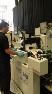 Prove di stampa con la VIVA 340 anilox