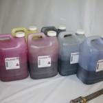Gli inchiostri sono forniti in contenitori da 10 kg