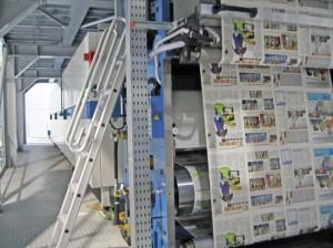La stampa con la Cortina Waterless per quotidiani e commerciale