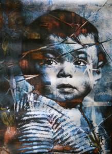 A. Tagliabue - Lost, 2011 stampa digitale e linoleografia