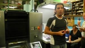 Marco Biggi illustra la stampa offset ecologica
