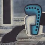 M.C.Toni 2011- Tracce nel deserto, puntasecca, rotella, perforazione su forex