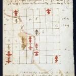 Folio 9r. che riporta un problema con le regole medievali