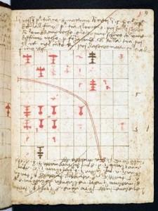 Folio 9r. riporta un problema con le regole vecchie