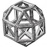 Il cuborombododecaedro disegnato da Leonardo per il De Divina Proportione di Pacioli