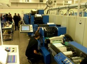 Reparto produzione con le semirotative offset Gallus