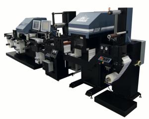 La stampante per etichette inkjet Colordyne con fustellatura in linea