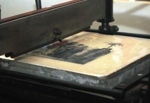 Una delle pietre litografiche catalogate ed esposte al Museo della Stampa di Lodi