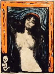 Madonna, 1896, litografia, 60,5 x 44,7 cm, Ars Longa,  collezione Vita Brevis © The Munch Museum / The Munch-Ellingsen Group by SIAE 2013