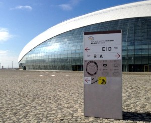Signs printed by SUN Studio for Sochi Olimpic Games