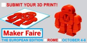 L'avviso di Makers, prima fiera 3D in Italia, a Roma