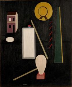 Soldati Atanasio, Composizione, 1942 - olio su tela, cm. 50x60