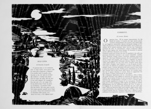Alla Luna, xilografia Gianfranco Schialvino