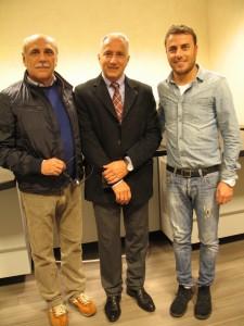 Da sinistra Giovanni Esposti, Silvano Finelli e Marco Esposti