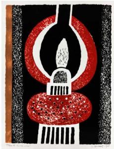 Luigi Spacal Il lume rosso Xilografia, 1965, 570 x 440 mm
