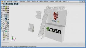 Una videata dell'esempio di animazione 3D