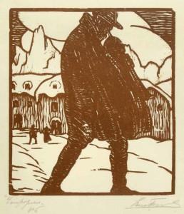 Zampognaro, xilografia, 1926, mm 225 x 200