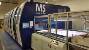 Una delle macchine per la stampa digitale MS Lario degli stabilimenti Miroglio
