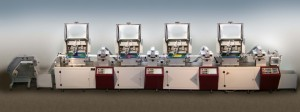 Sceen printer 4 colours for textile labels