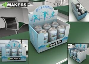 Store Visualizer rendering per lattine di bibite