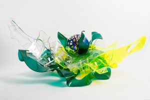 A. Angelini Insalata mista Plexiglass, foglia d'oro e tecnica mista, 2013