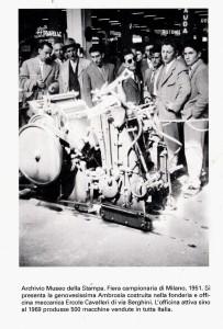 L'Ambrosia esposta alla Fiera Campionaria di Milano, era il 1951. (Armus)