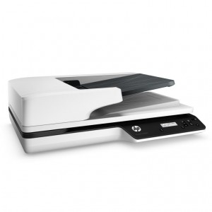 HP ScanJet Pro 3500 f1 Flatbed Scanner, Right facing, no document