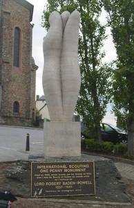 Il monumento agli scout di Wiltz