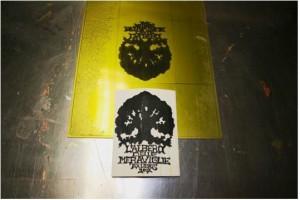 L'albero delle meraviglie ex libris, 2007. Lavorazione di matrice fotopolimerica a rilievo. Stampa su torchio calcografico