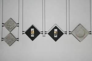 Paesaggio d'armi - Xilografia stampata a mano + foglia oro