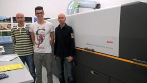 Da sinistra: Marco Lugli (responsabile commerciale),Paolo Caffagni (responsabile progetto Nexpress), Stefano Lugli (direttore di produzione)