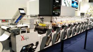 XFlex di Omet con metallizzazione nanografica