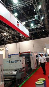 Il modulo e-beam appplicato su una macchina a banda stretta per packaging flessibile